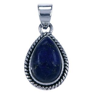 Zilveren  hanger Lapis Lazuli druppel