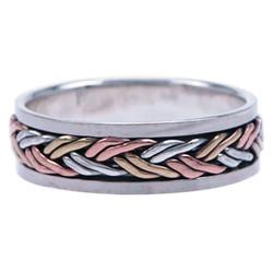 Zilveren Heren  Draai-ring