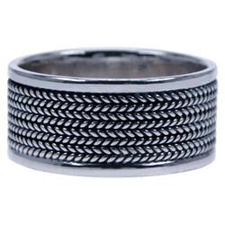 Zilveren Heren ring band
