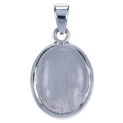 Zilveren  hanger Maansteen ovaal glad