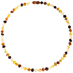 Barnsteen halsketting 4 kleuren