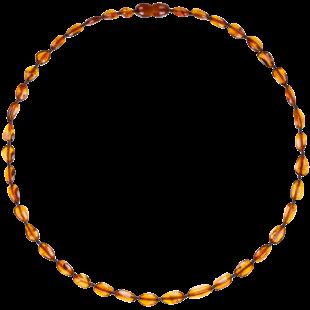 Barnsteen halsketting cognac