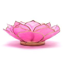 Lotus sfeerlicht bladvorm roze goudrand