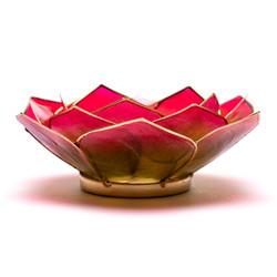 Lotus sfeerlicht bladvorm roze/groen goudrand