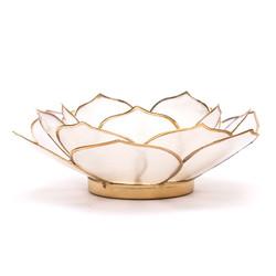 Lotus sfeerlicht bladvorm naturel goudrand