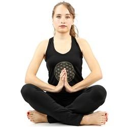 Yoga top 'Bloem des Levens' zwart L