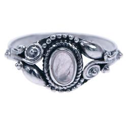 Zilveren ring Rozenkwarts 4809r