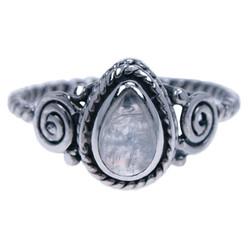 Zilveren ring Maansteen 48004m