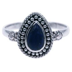 Zilveren ring Lapis Lazuli 48003b