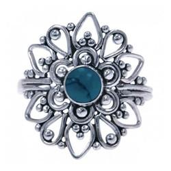 Zilveren ring Turkoois 4850t