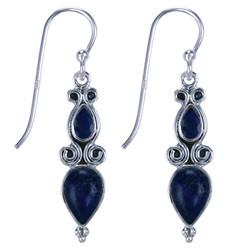 Zilveren oorbellen Lapis Lazuli