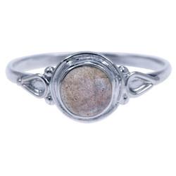 Zilveren Ring labradoriet (4813l)