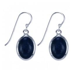 Zilveren oorbellen Lapis Lazuli (9806b)