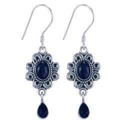 Zilveren oorbellen Lapis Lazuli (9886b)