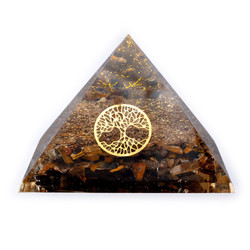 Orgoniet Piramide - Tijgeroog met levensboom