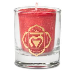 Votief geurkaars 1e chakra in geschenkdoos