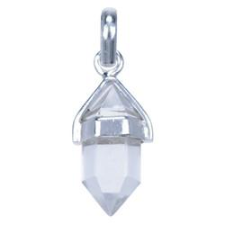 Zilveren hanger Bergkristal Punt