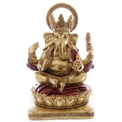 Ganesh beeld rood goud 14cm