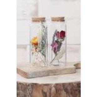 Droogbloemen in flesje h.12,5 Ø4,5 cm