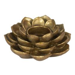Clayre & Eef Decoratie waxinelichthouder goudkleurig