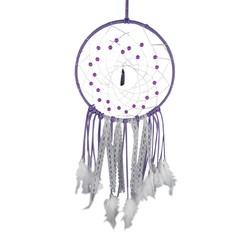 Dreamcatcher met Kristallen & Witte Veren 20cm