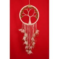 Dromenvanger  - tree of life groene kralen 27 cm