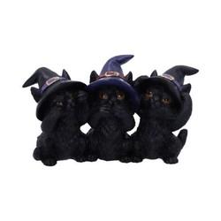 Drie wijze zwarte katten 11,5 cm