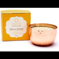 Vata tuberoos jasmijn geurkaars met 2 lonten in pot