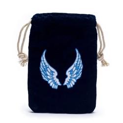 Fluwelen tasje met engelenvleugels  19x13