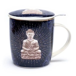 Theemok set Boeddha blauw