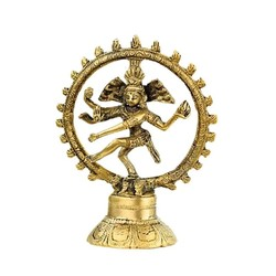 Shiva Nataraj messing 1 kleur 10 cm