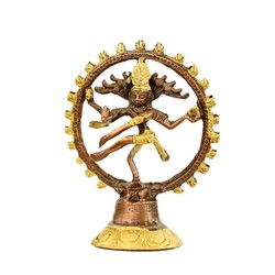 Shiva Nataraj messing 2-kleurig 20 cm