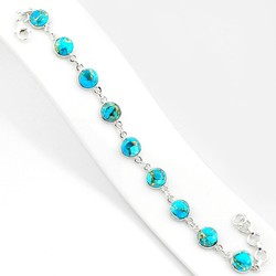 Zilveren armband Turkoois