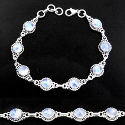 Zilveren armband Maansteen