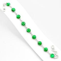 Zilveren armband Malachiet