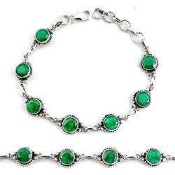 Zilveren armband Smaragd