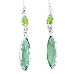 Zilveren oorbellen Groene Amethist