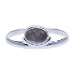 Zilveren ring Labradoriet