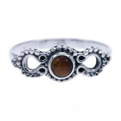 Zilveren ring Tijgeroog