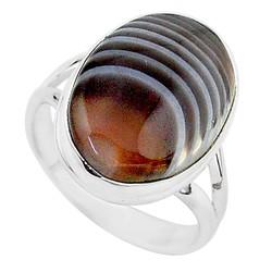 Zilveren ring Agaat Botswana