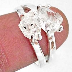 Zilveren ring Herkimmer Diamant