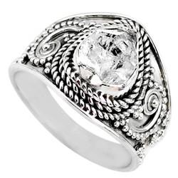 Zilveren ring Herkimer Diamant