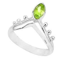 Zilveren ring Peridoot