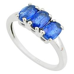Zilveren ring Saffier