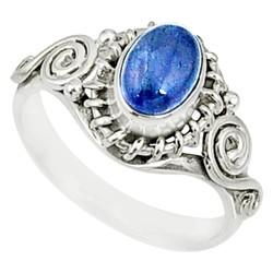 Zilveren ring Tanzaniet