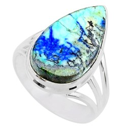 Zilveren ring Turkoois met Azuriet