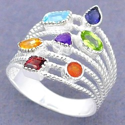 Zilveren ring Chakra