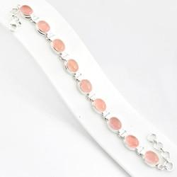 Zilveren armband Rozenkwarts