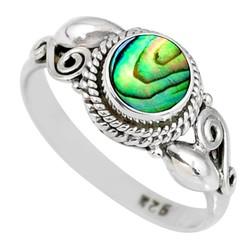 Zilveren ring Abalone