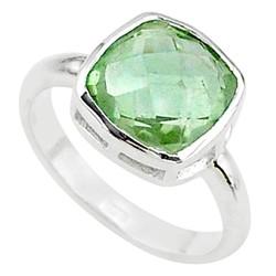 Zilveren ring Groene Amethist